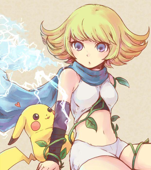 Phosphora and Pikachu by doublejoker00.deviantart.com on @DeviantArt