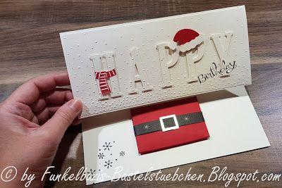 Funkelbazis Bastelstübchen: Birthday Card, Eclipse Card, Geburtstagskarte, gift card, Jolly Friends, Männerkarte, masculine, Stempelset Es schneit, stampin up