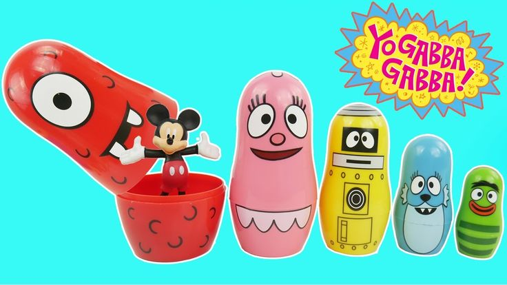 Yo Gabba Gabba Stacking Cups Play Doh Surprise Eggs For Children Learn Colors Nesting Poupées Russes.   Nesting Dolls are also known as matriochka babushka babooshka babushka's doll matroshka matruska matryushka 요 가바 가바 플레이도 Poupées Russes matryoshka matrioshka matreshka or Russian dolls  Play Doh is also known as лепка из глины Crayola Muovailuvaha 플레이도 Ciastolina เพลยโดว 培樂多 plastilina pasta de modelar Arcilla juegos de moldear juegos de modelar Softee-Dough Moon-Dough Clay Plasticine…