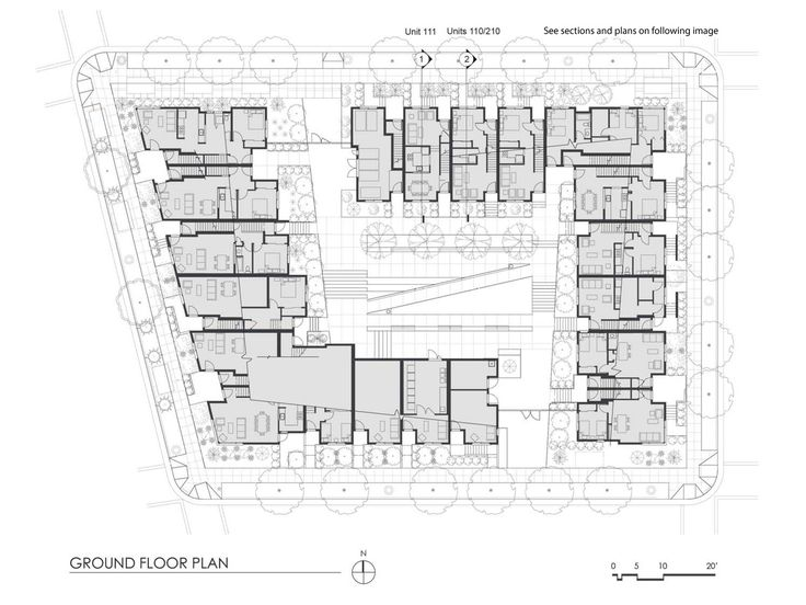 Hunters View Housing Blocks 5 & 6,Ground Floor Plan