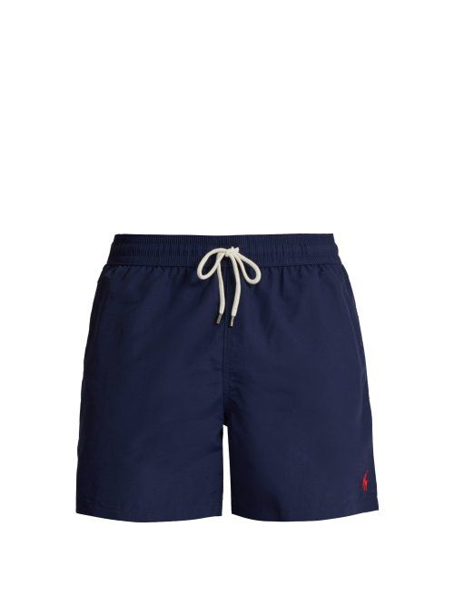 7dad3193da POLO RALPH LAUREN POLO RALPH LAUREN - BLOCK COLOUR SWIM SHORTS - MENS -  NAVY. #poloralphlauren #cloth