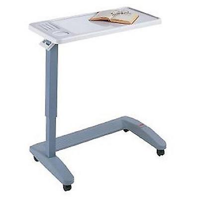 Adjustable Overbed Table Rolling Portable Laptop Desk Food Hospital Cart Stand