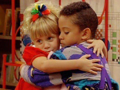 awe...so sweet...their goodbye before teddy moved away:( #love fullhouse