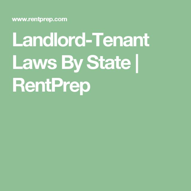 Landlord-Tenant Laws By State | RentPrep