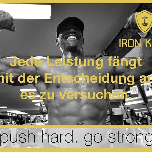 Jede Leistung  fängt mit der Entscheidung an, es zu versuchen. 💪🏻#iron_king_body #onlinetrainingsplan #muscle  #muskelaufbau #fit #fitness #fitnessblog #fitfam #healthylifestyle #training #trainingsplan #bodyqueen  #trainingsprogramm #lean #eat healthy #workout