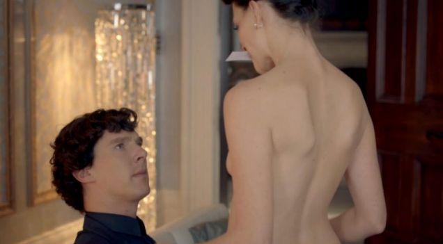 Irene Adler actress Lara Pulver: I made Cumberbatch look at my boobs