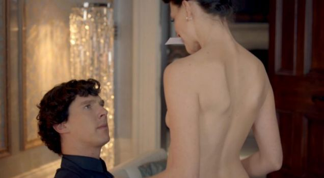 Irene Adler actress Lara Pulver: I made Cumberbatch look at my boobs