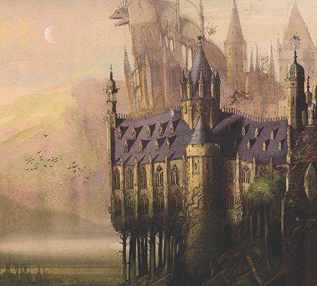 'The most expansive fantasy world in children's literature' … Hogwarts as imagined by Jim Kay