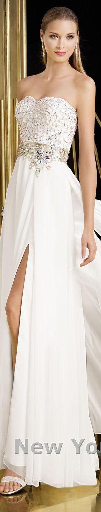 Alyce Paris design #strapless #elegant #large #formal #white #dress