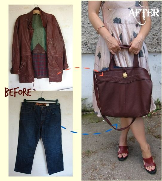 Refashion Co-op: DIY TUTORIAL / HOW TO SEW LEATHER BAG/ RECYCLING