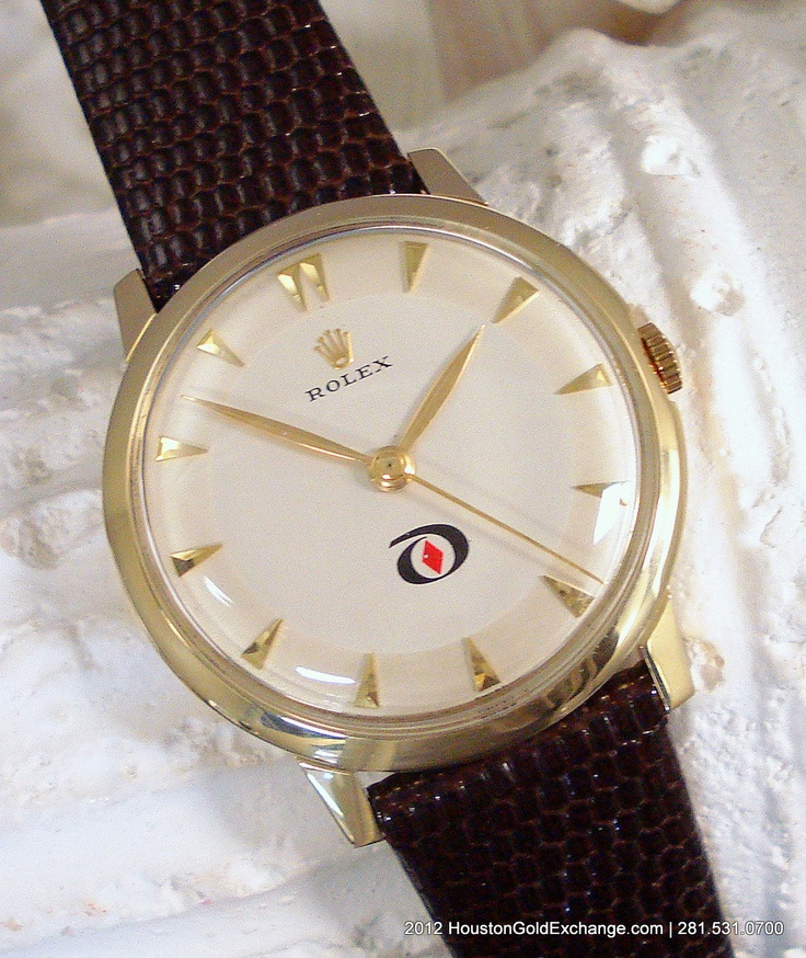 Very rare vintage 1960 14K Rolex Men's watch. 35mm Case ...