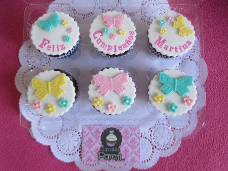 Cupcakes mensaje de cumpleaños