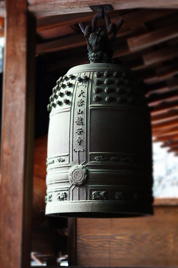 Iron bell of Japanese shrine