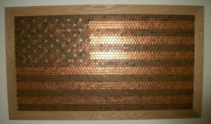 Penny Wall Art... Do with a Canadian Flag