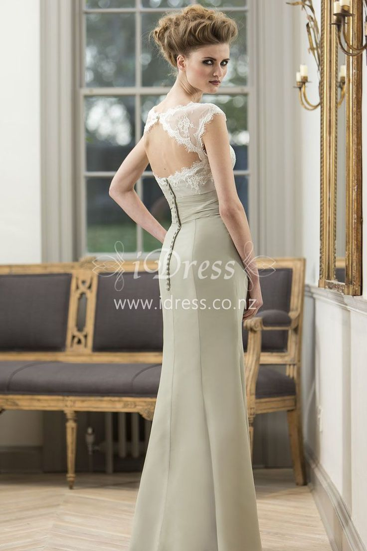 268 best bridesmaid dresses nz images on pinterest bodice long bridesmaid dress was made of chiffon with cap sleeves sheer lace overlay on the empire ombrellifo Image collections