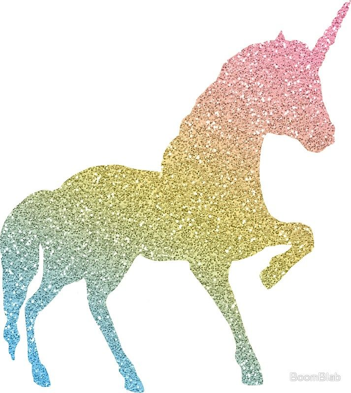 Glitter Rainbow Unicorn Sticker By Boomblab In 2021 Unicorn Stencil Unicorn Wallpaper Cute Unicorn Painting