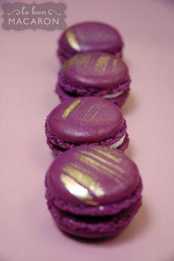 Lavender & Gold Macarons