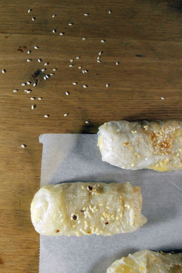 CRISPY GLUTEN-FREE VEGAN CHEESE BÖREK -- The ideal comfort food. Eat it while it's hot!