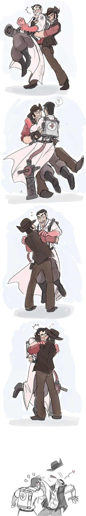 TF2- Victory by MadJesters1 (This artist makes me want to draw comics/fanart again XP Love her stuff!)