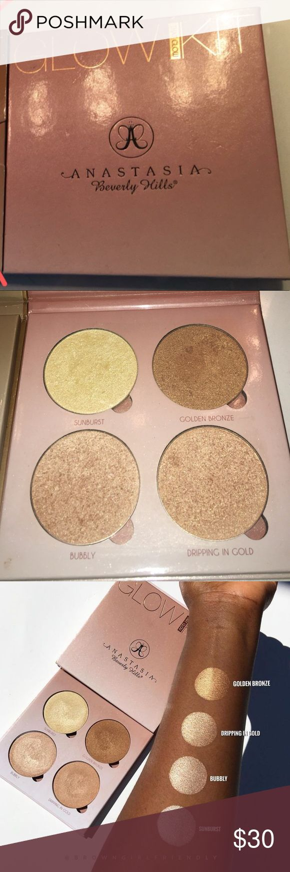 Anastasia That Glow Palette slightly used and limited edition Anastasia Beverly Hills Makeup