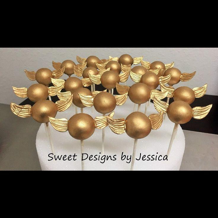 Golden Snitch Cake Pops Harry Potter Cakesgolden