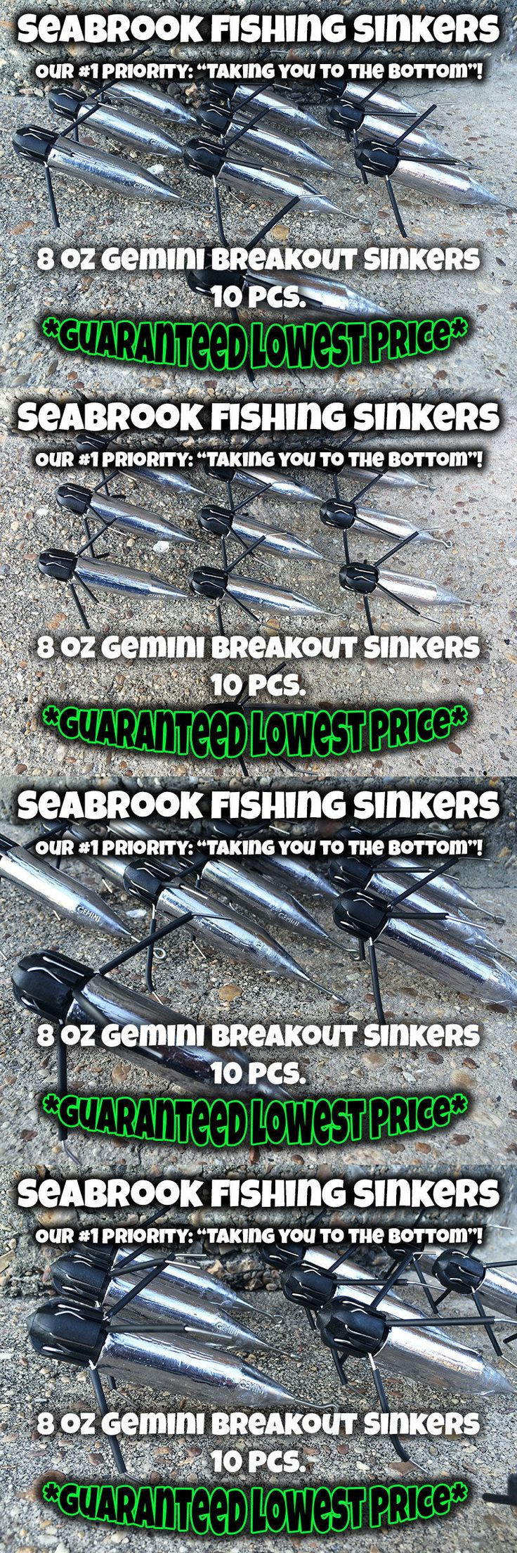 Sinkers and Weights 161826: 8 Oz - 10 Pcs   Gemini Breakout Sinkers   Surf Sputnik Sinker Spider Weights BUY IT NOW ONLY: $35.99