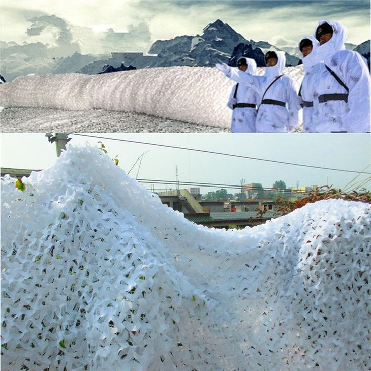 82.80$  Watch now  - 3X6M Snow White Camouflage Net Camo Netting Military Camping Hunting Cover Tent Photography Birthday Party Decoration