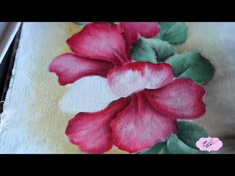 Eliane Nascimento: Pintando Hibiscos. - YouTube