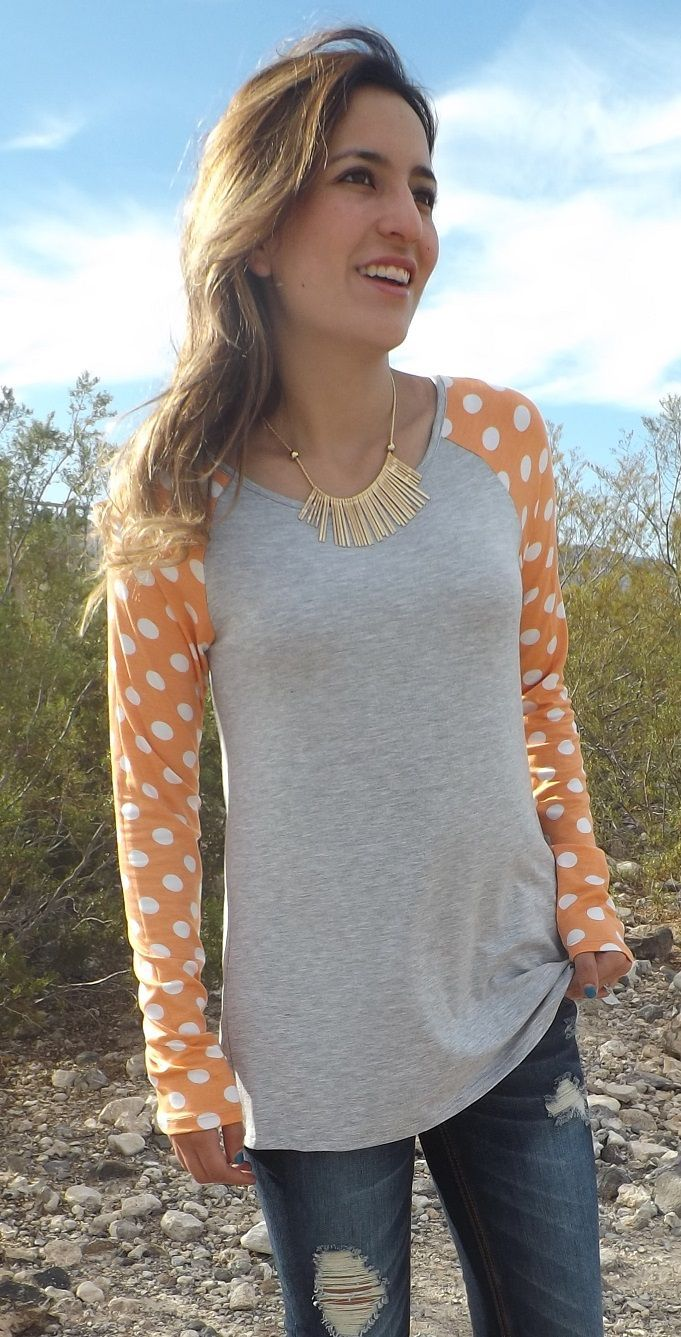 These long sleeve polka dots top will not disappoint you! They are comfortable and flattering for all body types. The longer length is just right for the fall, pair it with leggings, shorts and you are ready to go!. Wear them casual or dress them up.