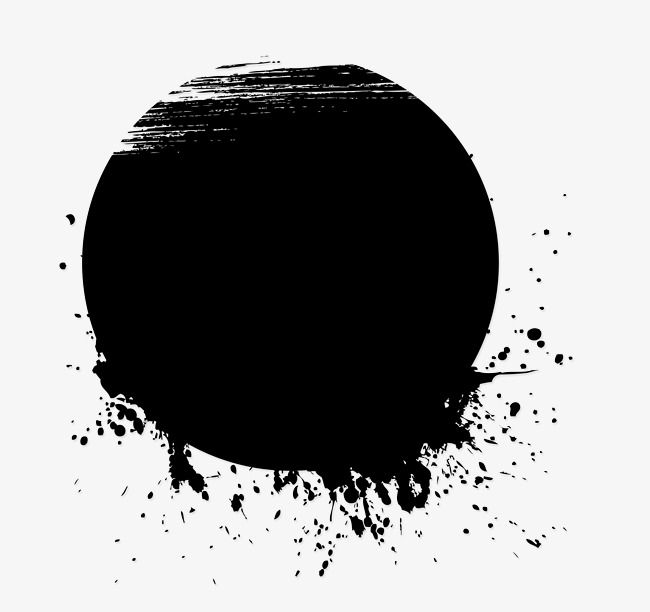 black and white ink painting - blob clip art PNG image with transparent  background | TOPpng