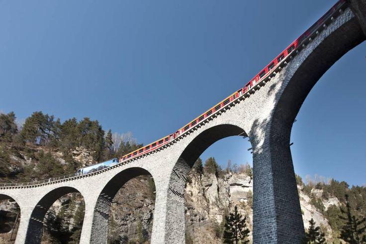 Pass Всемирного наследия ЮНЕСКО - Ретийская Железнодорожная RhB