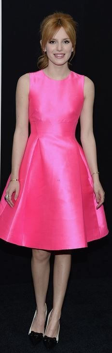 Who made Belle Thorne's pink dress?