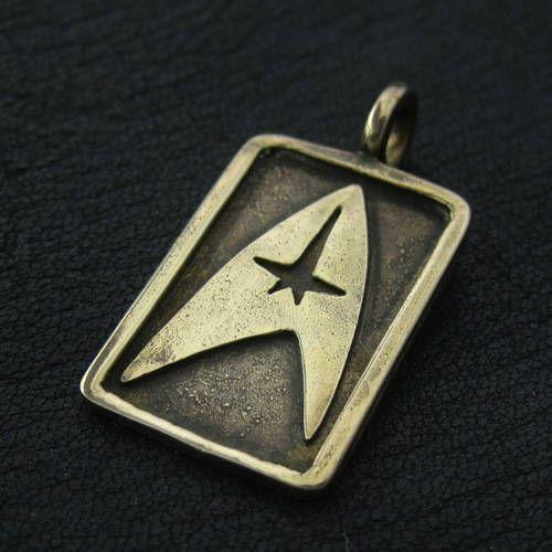 Bronze Star Trek pendant