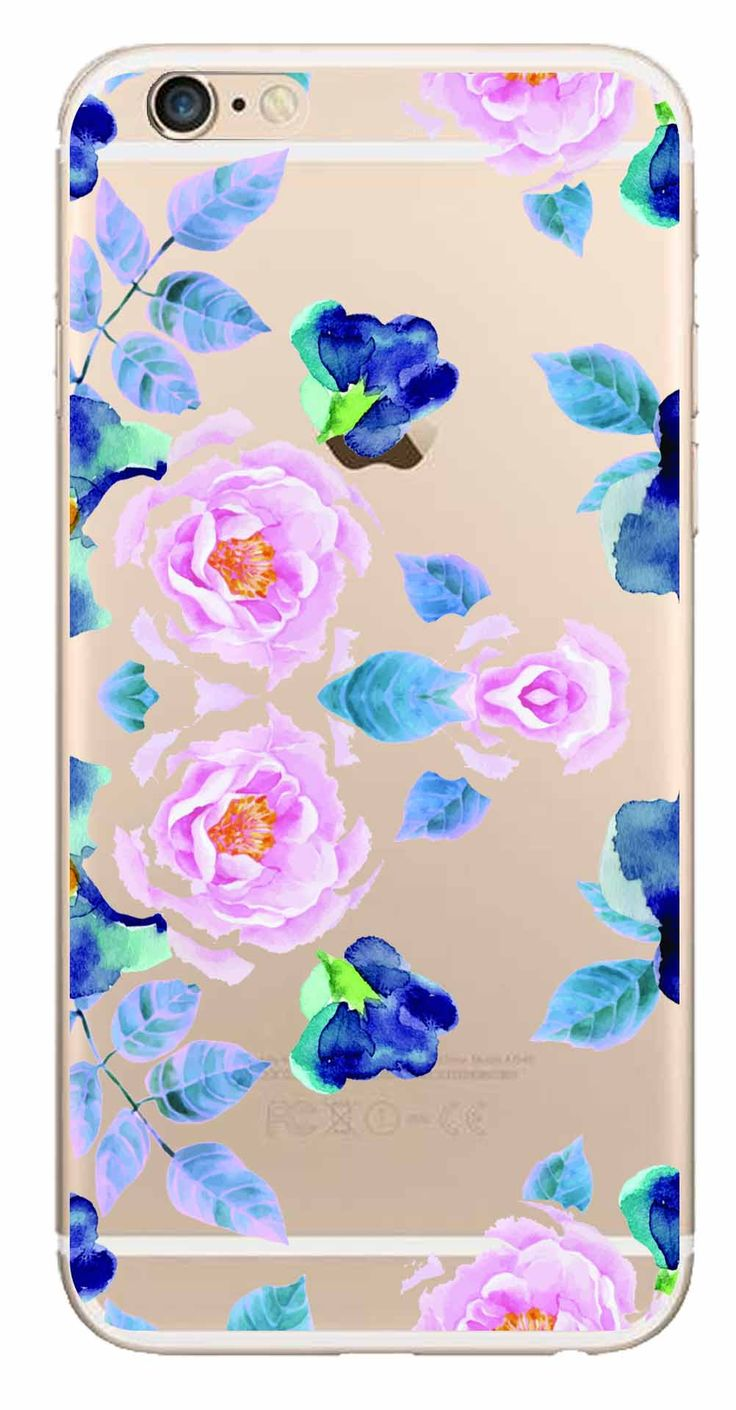 Whatskin DIY Style Color Drawing Flowers Series 10 Clear Back Cover for iphone 6