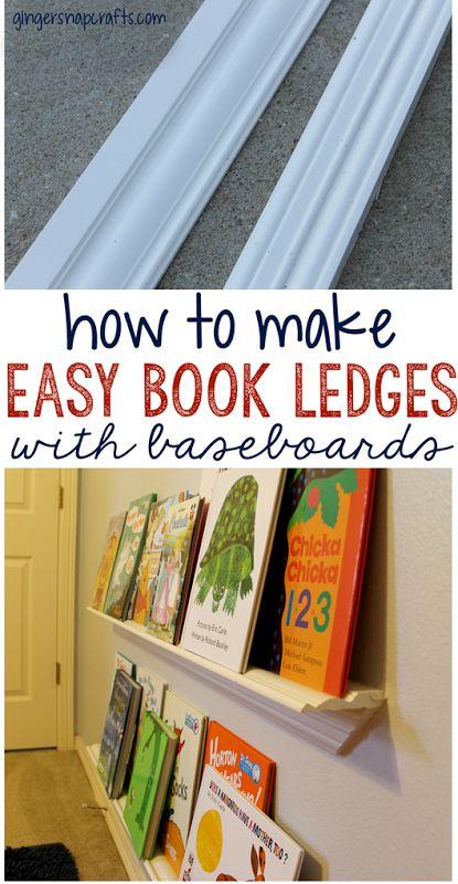 DIY Book Ledge Reading Nook ~ Back to School Series {tutorial}