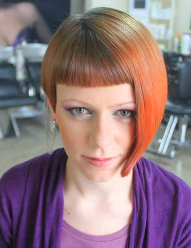 Yes, Mrs Smith....Your husband was such a good boi.. After we had booked his hair, we decided to push it a liitle further..we think he looks darling with this assymetric cut...and theres no way He can deny being a sissy now, not with that style