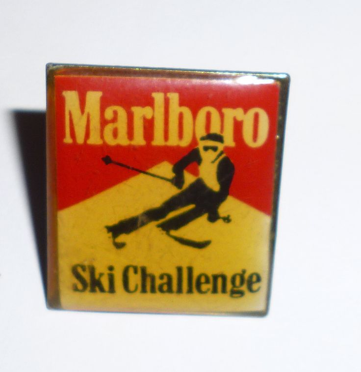 Marlboro Cigarettes Ski Challenge Pin