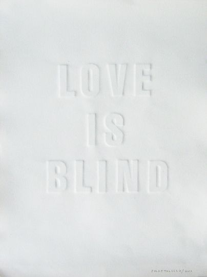 Rinaldo Frattolillo, Love Is Blind: White Wonder, Quotes About Love, Pure White, Love Is, Blinds, A Tattoo, Inspiration Quotes, Love Quotes, White Ink