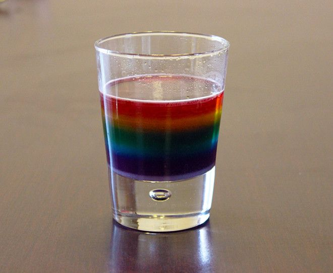 Make your own rainbow with this fun Water Density Experiment