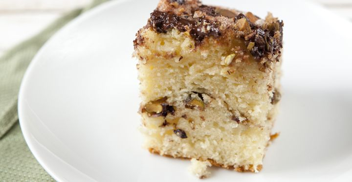 Pistachio Coffee Cake Is A Simple To Make Breakfast Or Brunch Treat Layers Of Chocolate
