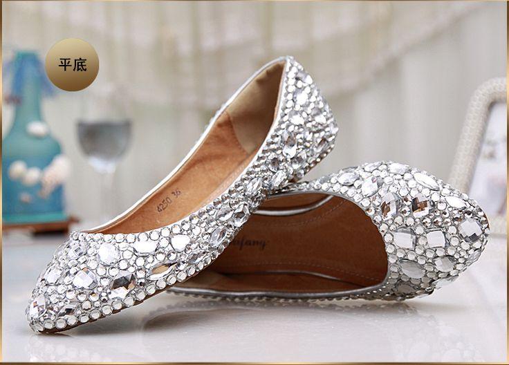 Fashion women's crystal rhinestone shoes platform shoes bride wedding shoes  bridesmaid high heels pumps