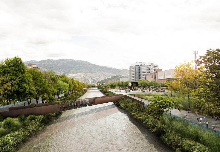 Primer Lugar Concurso Público Internacional de Anteproyectos Parque del Río en la ciudad de Medellín