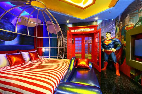 Superman bedroom 0.0 oh my stars and stripes that's beautiful!