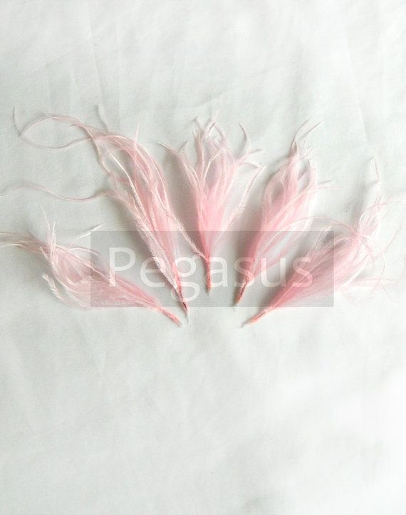 BALLERINA PINK Ostrich Feather Sprays. Cruelty free by pegasus22, $4.50