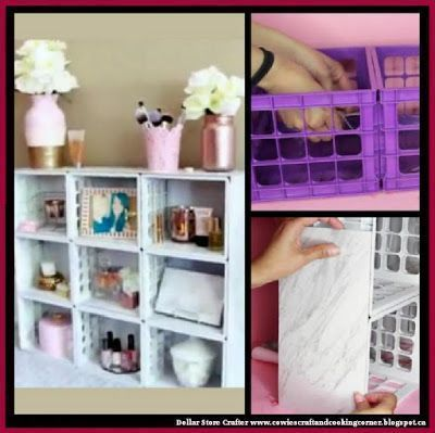 Dollar Store Crafter: Turn Dollar Tree Mini Crates And Marble Tiles Into…