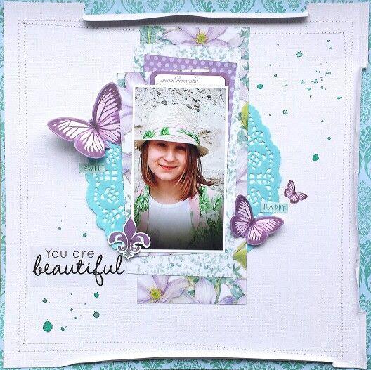 Kaisercraft : Fairy Dust collection : You are beautiful layout by Amanda Baldwin
