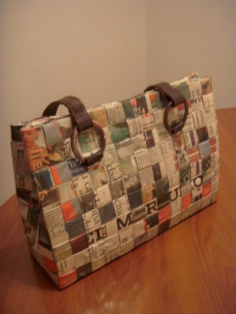 1000 images about reciclaje en papel de diario o revistas - Manualidades de papel reciclado ...