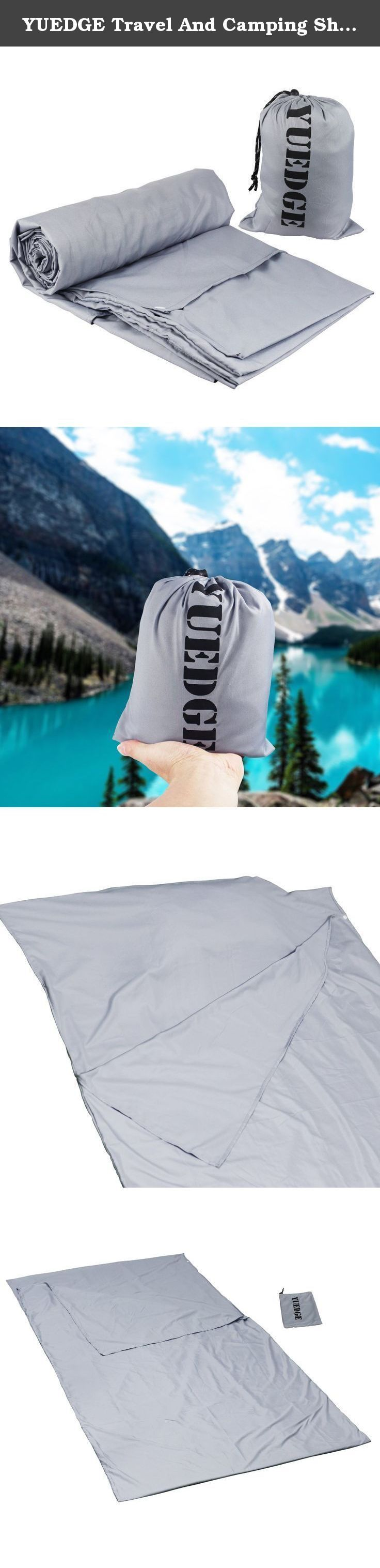 YUEDGE Travel And Camping Sheet Sleeping bag Liner Compact Sleep Bag And Sack Comfortable, For Travel, Youth Hostel, Picnic, Plane, Train. YUEDGE Travel And Camping Sheet Sleeping Bag Liner LUXURIOUS SPACE The liner is 220cm (86.6 inch) in Length and 110cm (43.3 inch) in width,which is the MOST luxurious size of a single sleeping bag liner.Please compare the size with other liners with a standard size of 210*90cm (83*35 inch). Even tall people will have generous space to move around and...