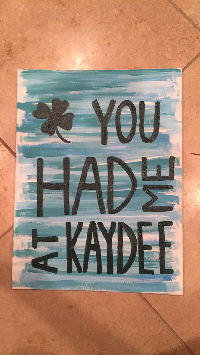 Kappa Delta canvas. You had me at Kaydee