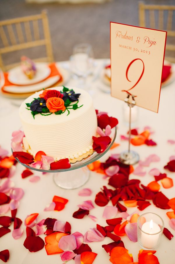 pretty wedding cake for traditional Parsi wedding, photos by Aaron Courter Photography | junebugweddings.com